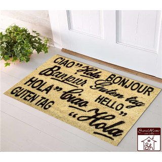 Saral home 100 coir made heavy duty anti slip door mat. Size 40x 60 cm.