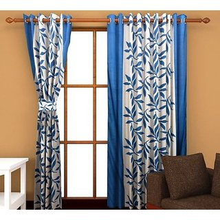 Elegance Kolaveri Design Polyester Window Curtain Set Of 2