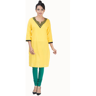 Parinita Cotton Yellow kurta 150715