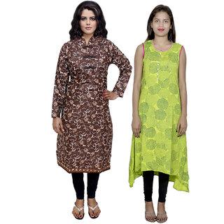 IndiWeaves Women's Kurti Combo (Pack of 2 Kurti)