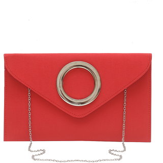 Red Sling Bag with Ring