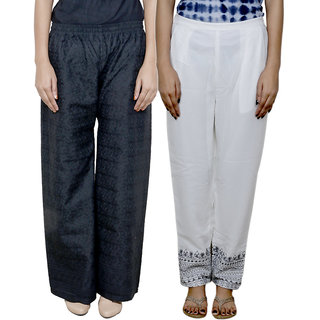 IndiWeaves Women's Pallazo Combo 2 (Pack of 2 Pallazo)
