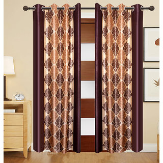Living Creation Pack of 2 Stylish Printed Door Curtain(7x4 ft.)