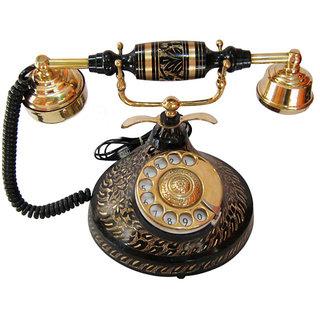 Interio Crafts All Brass Antique Landline Telephone