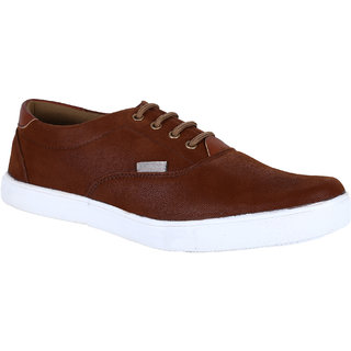 Tc Stylish Dark Brown Lace-Up Style Casual Shoes