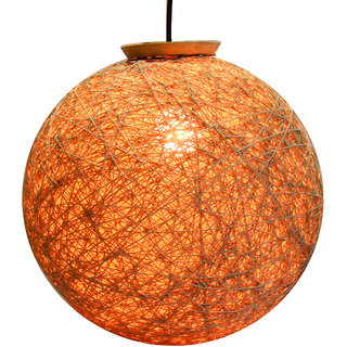eartho cotton hanging lamp shades yarn with magnetic lock orange and 85 cm - Hanging Lamp Shades