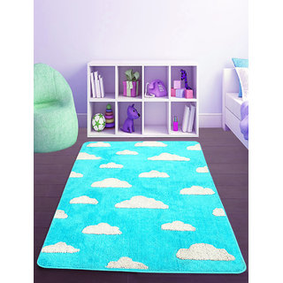 Saral Home Very Soft Micro Polyester Tufted Kids Design Floor Carpet -90x150 cm
