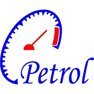 Indiashopers Petrol Meter Bumper Sides Windows Car Sticker