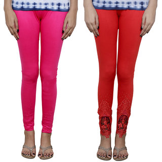 Indistar Women's Fancy Leggings Combo (Pack of 2 Leggings)