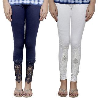 Indistar Women's Fancy Leggings Combo (Pack of 2 Leggings)