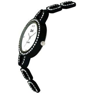 Zeit black bracelet watch for women