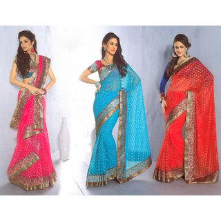 Net Jacquard Party Wear Designer Sarees