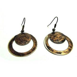 Handcrafted Tribal Brass Earrings
