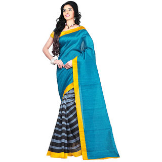 BuyOnn Women's Saree Bhagalpuri Printed With Unstiched Blouse (MultiFree SizeCombo of 1)