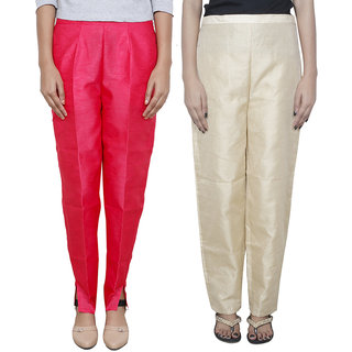 IndiWeaves Women's Boot Cut Pant Combo (Pack of 2 Boot Cut Pant)