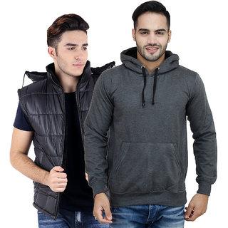 Christy World  Solid Jacket With Free Sweatshirt