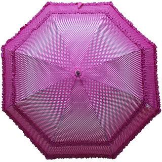 Murano Single Fold Dot Doublefrill Pink Color Umbrella