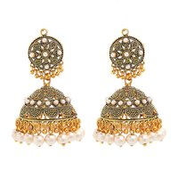 GoldNera Ethnic Pretty Festive Mayur Earrings-GE282Peacock