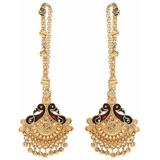 GoldNera Pearl Alloy Dangle Earring-GE67