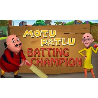 Buy Navya Motu Patlu Batting Champion Poster Paper Print 31cm X 46