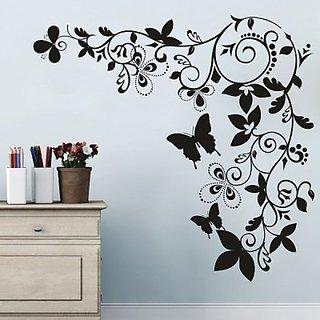 Decor Kafe Swirl Butterfly Design Wall Sticker  23x27(INCH)