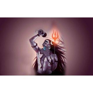 Navya Lord Shiva NeelKanth Poster (Paper Print, 31cm x 46 cm)