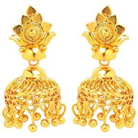 GoldNera Antique Round Alloy Jhumki Earring-GoldNera097