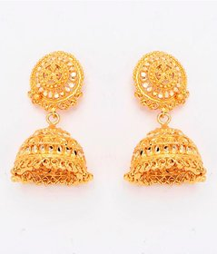 Gold Coloured Traditional Hanging Jhumka By Go-GN004