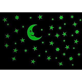 Decor Kafe Shining Stars Wall Sticker  47x27(INCH)