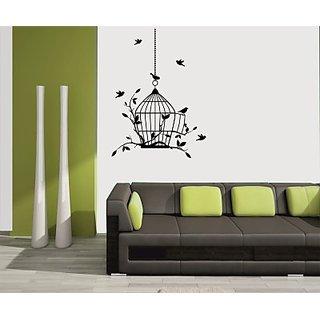 Decor Kafe Birds in Cage Wall Sticker  8x27(INCH)