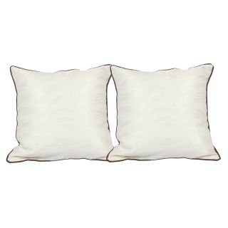 Just Linen Pair of Abstract Jacquard Cushion Covers