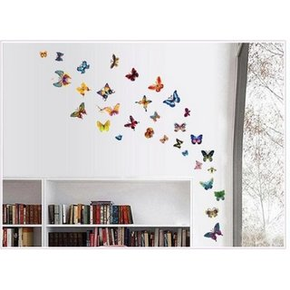 Decor Kafe Butterfly Wall Sticker  14x48(INCH)
