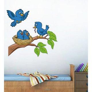 Decor Kafe Birds Wall Sticker  36x28(INCH)