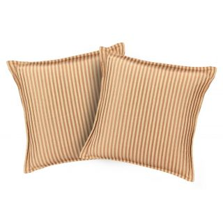 Just Linen Pair of Bold Brown Pencil Striped Cushion Covers