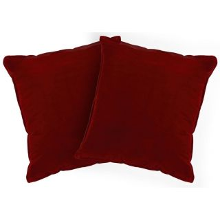 Just Linen Pair of Flock Velvet Maroon Regular Size Cushion Covers