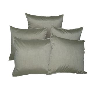 Just Linen 150 TC Set of 5 Polyester Dupion Beige Colored Reversible Cushion Covers