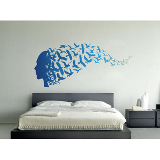 Decor Kafe Abstract  Wall Sticker  46x18(INCH)