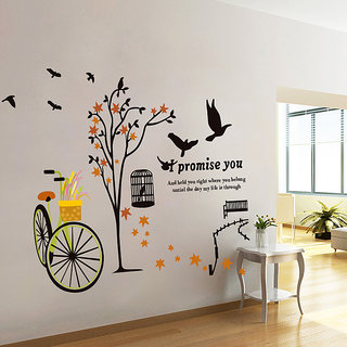 Decor Kafe Nature Wall Sticker  40x31(INCH)