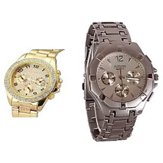 Combo of 2 Stylish Anolog Watches for Mens