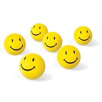 Toys Smiley Face Squeeze Ball Set Of 6 - 8 Cm(Yellow)