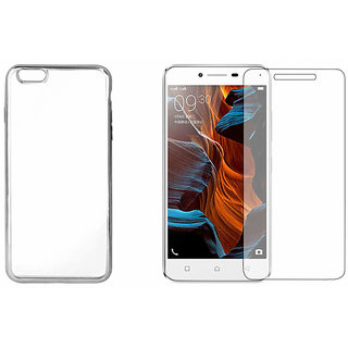 Tempered Glass + Transparent Back Cover compatible with Lenovo Vibe K5 Plus