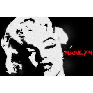 Marilyn Monroe Stencil Art Poster