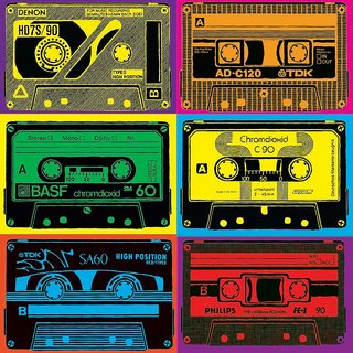 Cassettes Pop Art