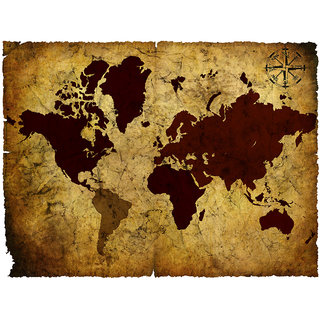 Vintage world map 03 prices in india shopclues online shopping store vintage world map 03 gumiabroncs Images