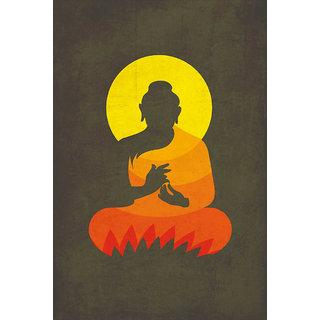 Buddha On Lotus Silhouette