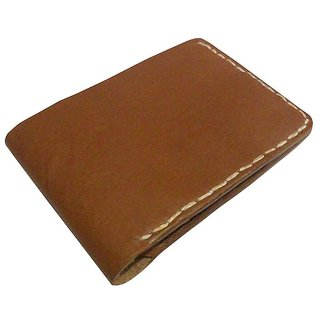 Vintage Handmade Leather Bi-Fold Wallet for Gifting-Tan Brown