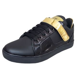 Black Tiger Men'S Synthetic Leather Casual Shoes
