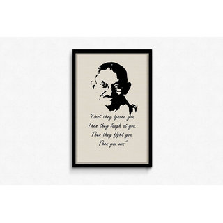 Gandhiji - Then You Win Framed Poster