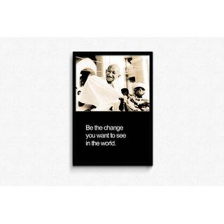 Gandhiji - Be The Change Framed Poster