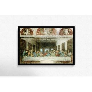 Last Supper By Leonardo Da Vinci Framed Poster